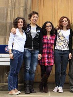 From left to right: Luigia Zazzara, Angela Barone, Emanuela Di Biase (current PhD student), and Alessia Centi