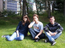 From left to right: Manon Foulc, Artur Wozniak, and Claudio Calabrese